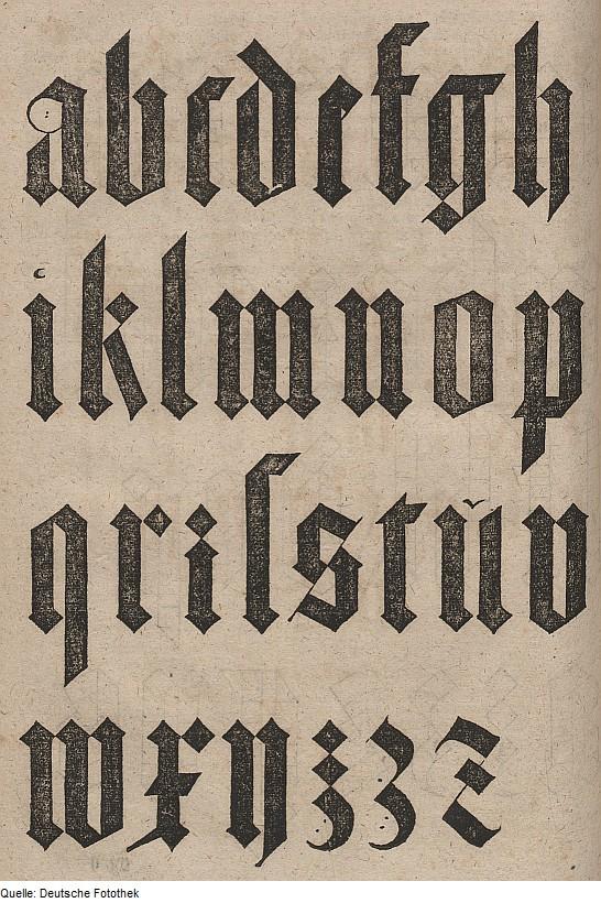 Czcionka łacińska projektu Albrechta Dürera